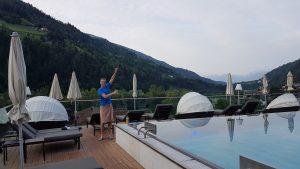Frank Gruner - Kurzes Auflockern vor dem Training im Quellenhof