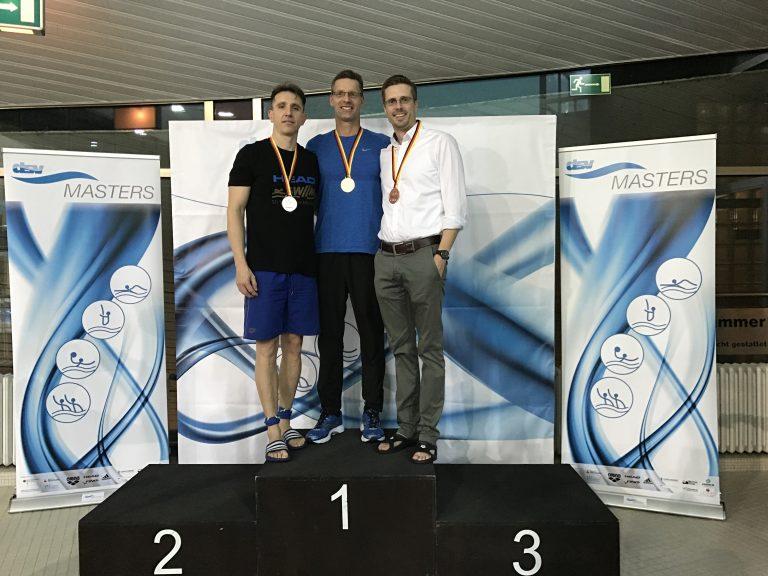 Frank Gruner - Eine Siegerehrung bei den deutschen Kurzbahnmeisterschaften in Hannover