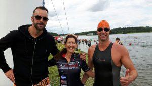 Frank Gruner - Triathlon mit meiner Frau und meinem Bruder an der Talsperre Pöhl