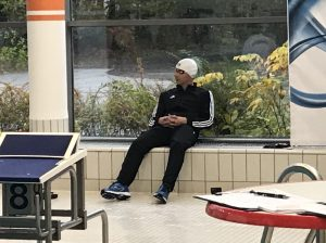 Frank Gruner - Kurze Ruhephase vor dem Start über 200m Lagenüber 200m Freistil
